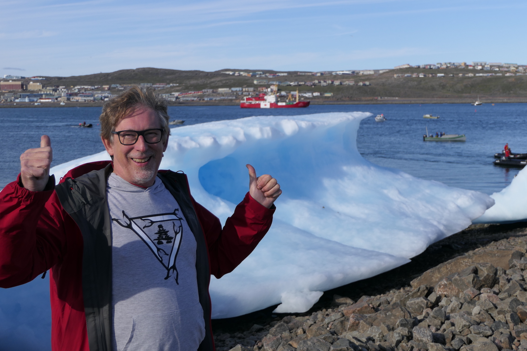 Randall with C3 in Iqaluit