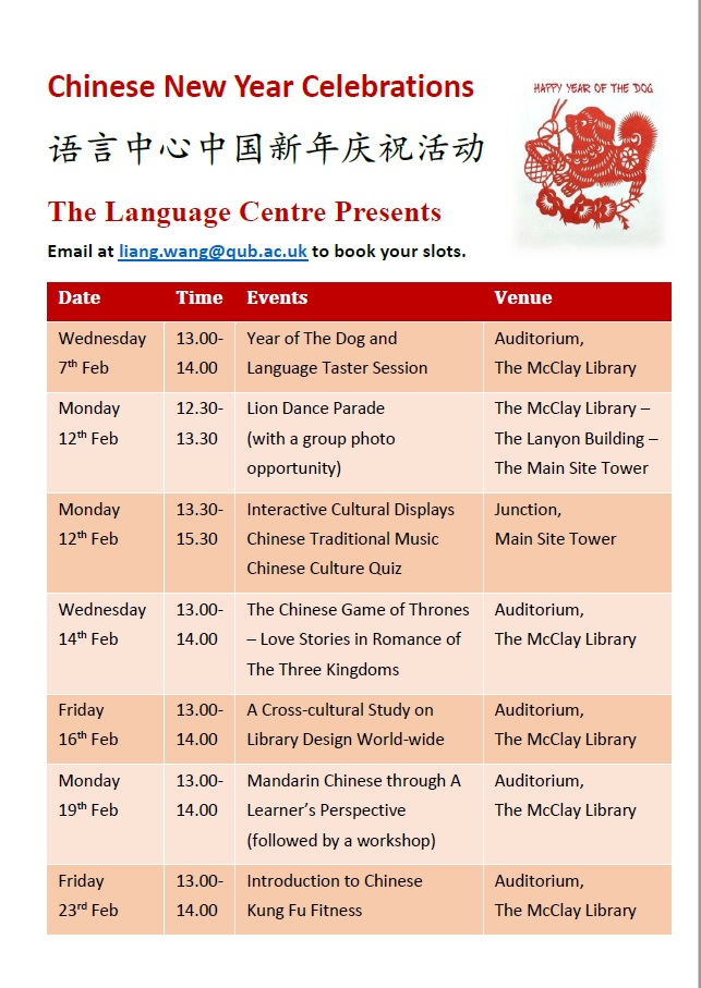 Language Centre Chinese New Year Celebration - Cultural Talk Programme