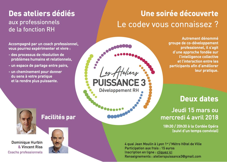 invitation soirée découverte Ateliers Puissance 3