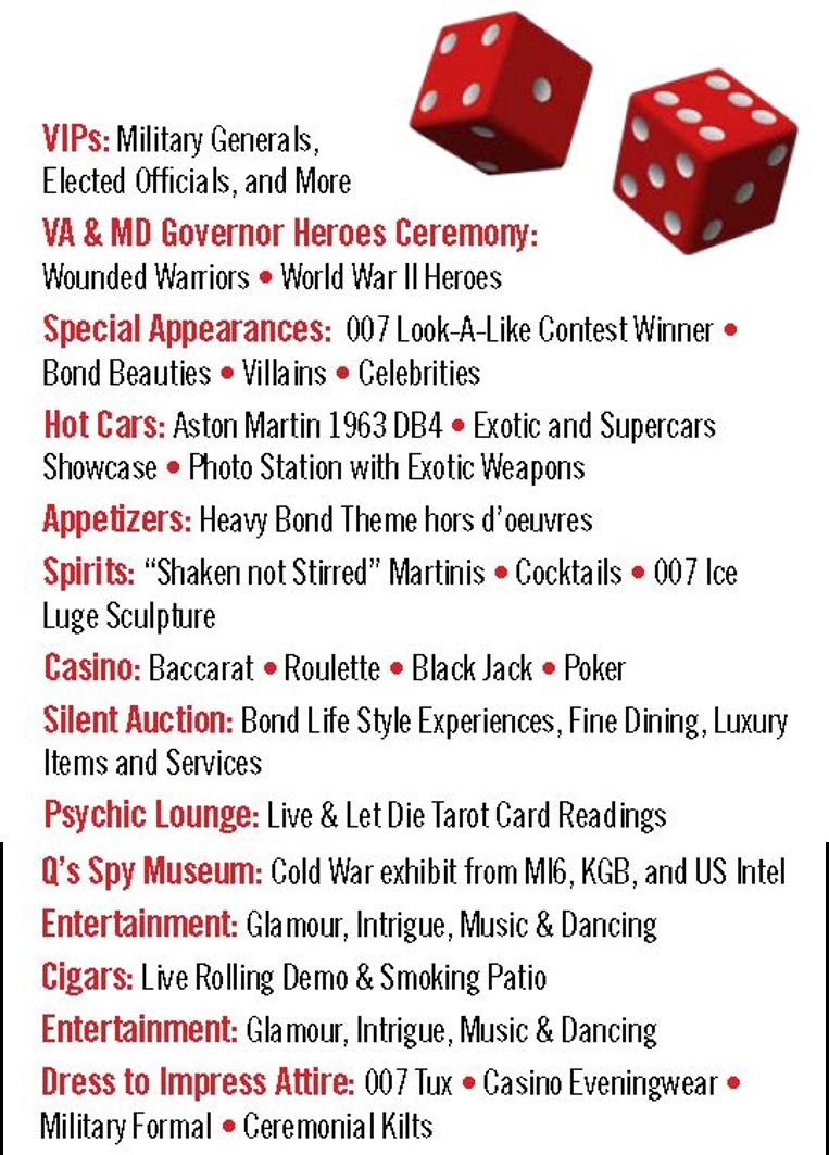 Casino Royale Benefit Event List