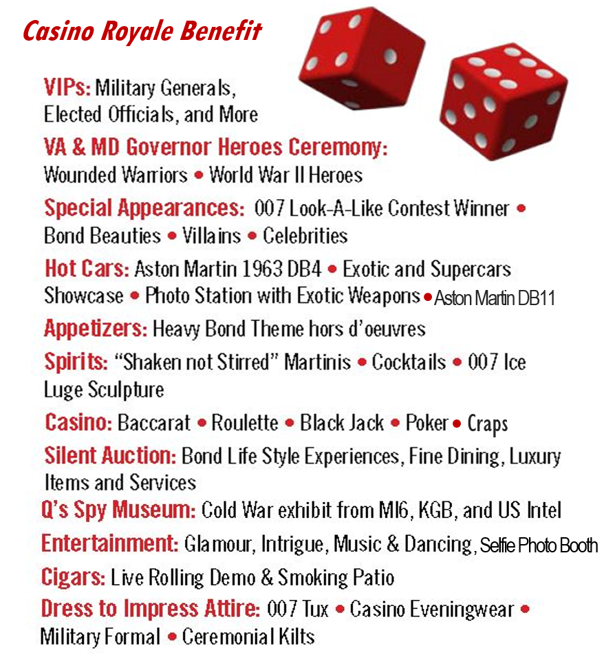 Casino Royale Benefit Event List