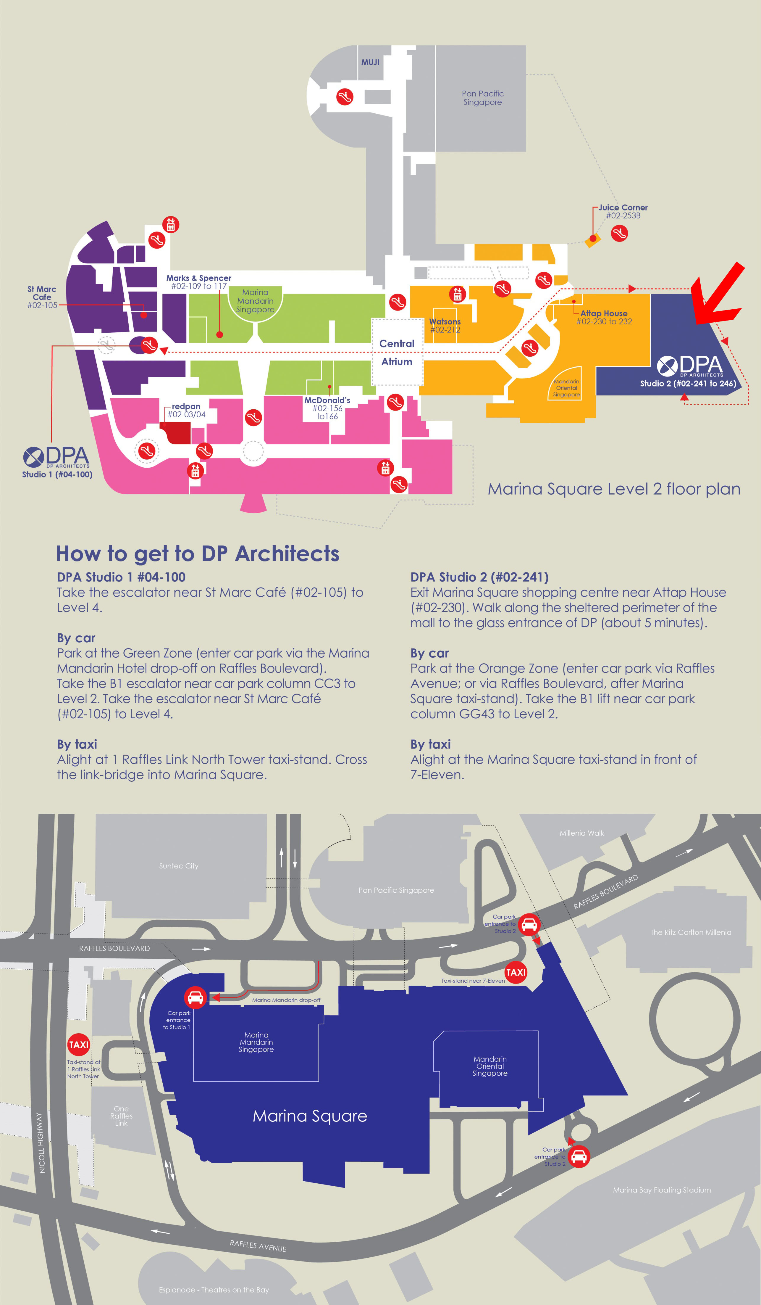 Map with directions