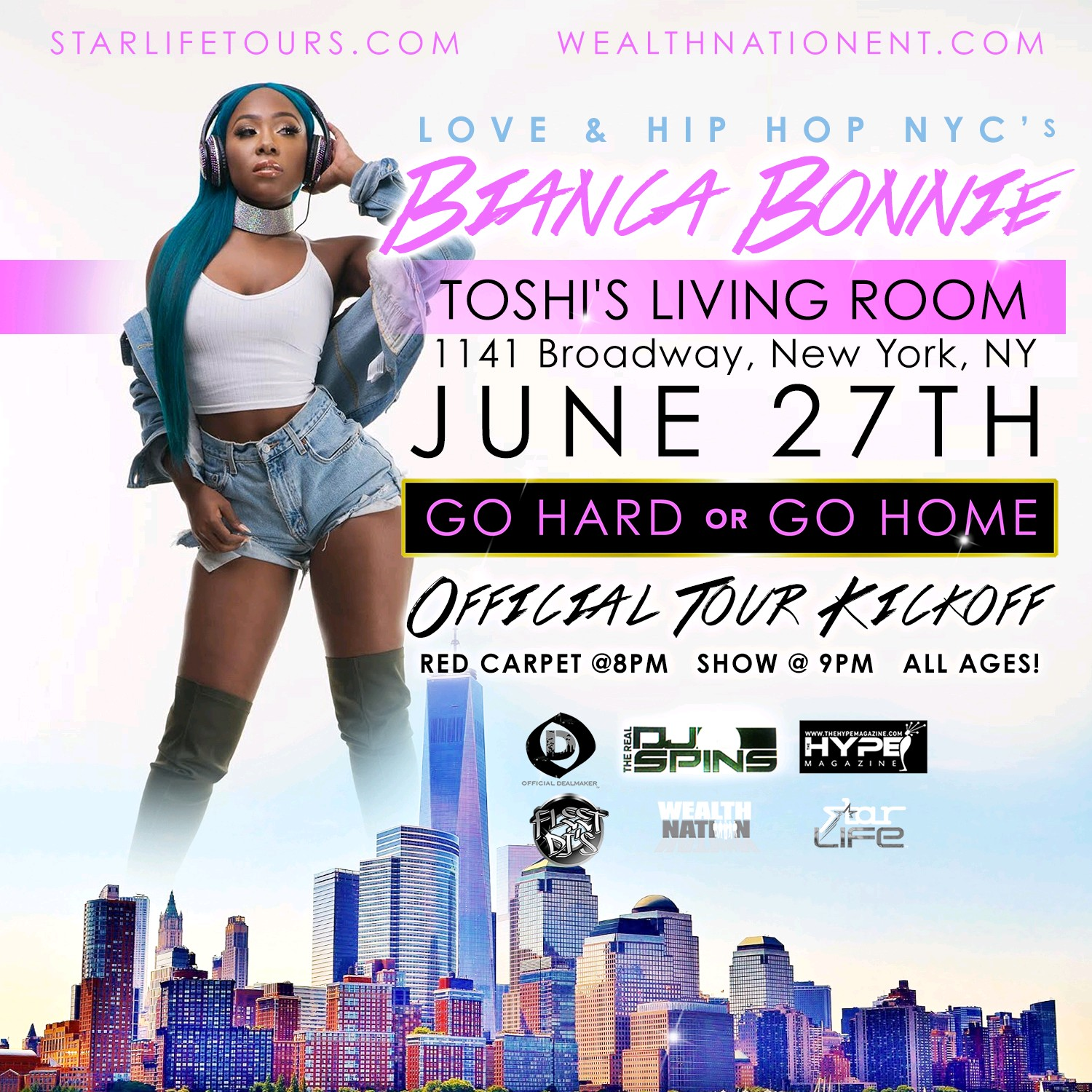 go hard or go home tour toshi s living room nyc tickets tue tags