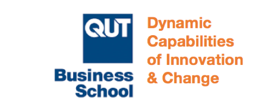 QUT Business School Dynamic Capabilities of Innovation and Change Research Group Logo
