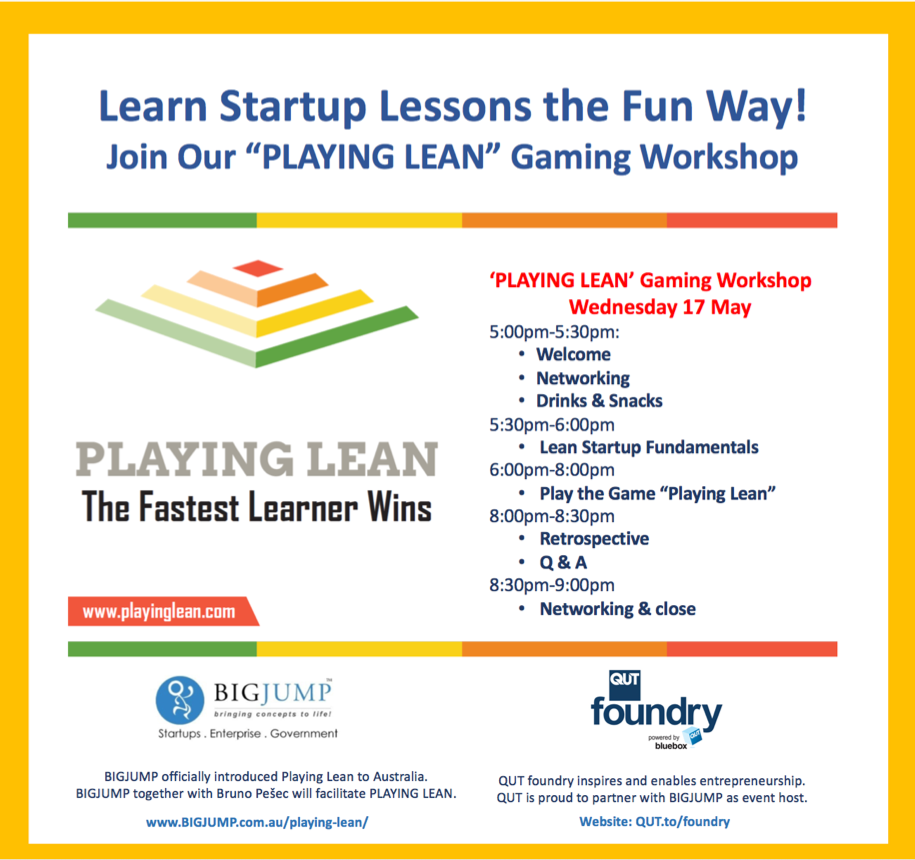 Playing Lean Workshop Wednesday