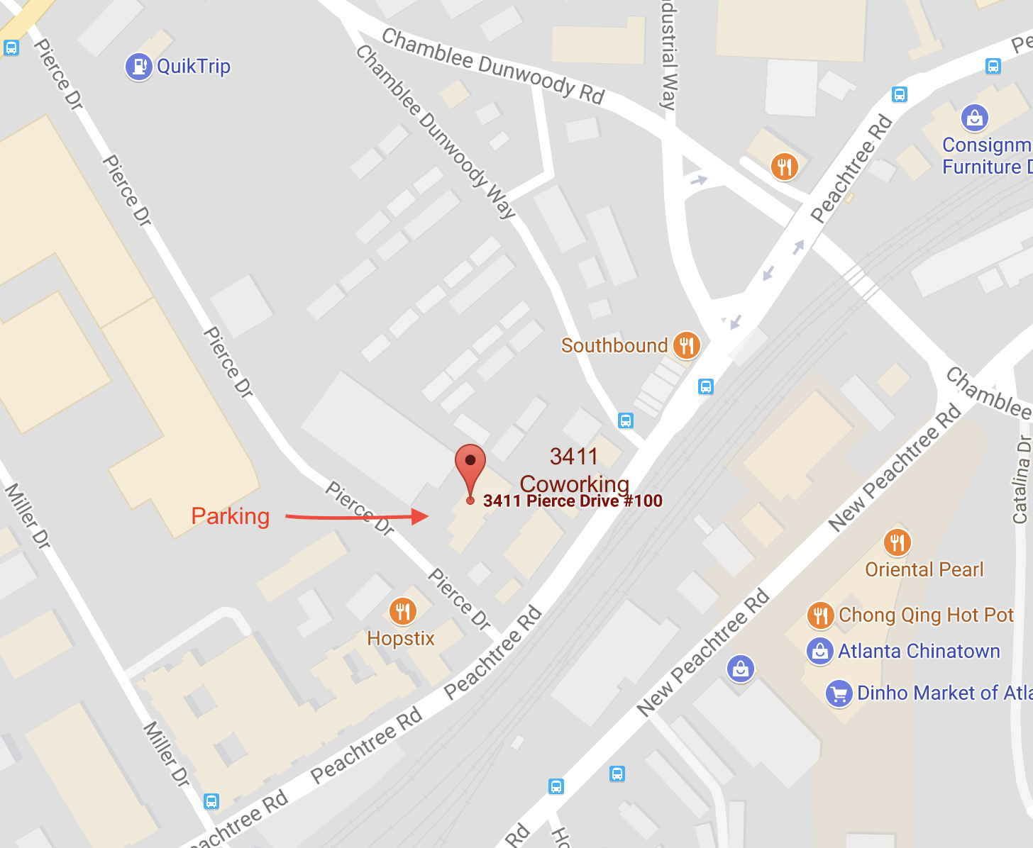 How To Find Us 3411 Coworking Is A Stand Alone Building Parking Is Along The Side And Front Once You Check In Make Your Way To The Back Area To The
