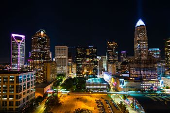 Charlotte Night Sky view