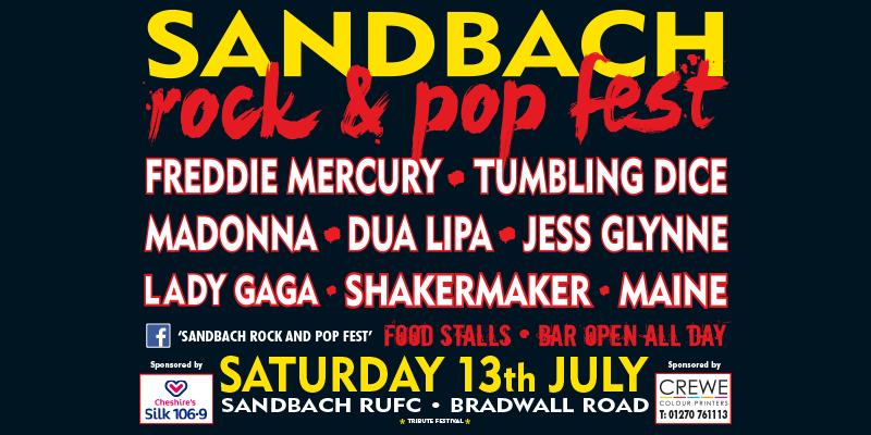 Sandbach rock and pop fest 2019