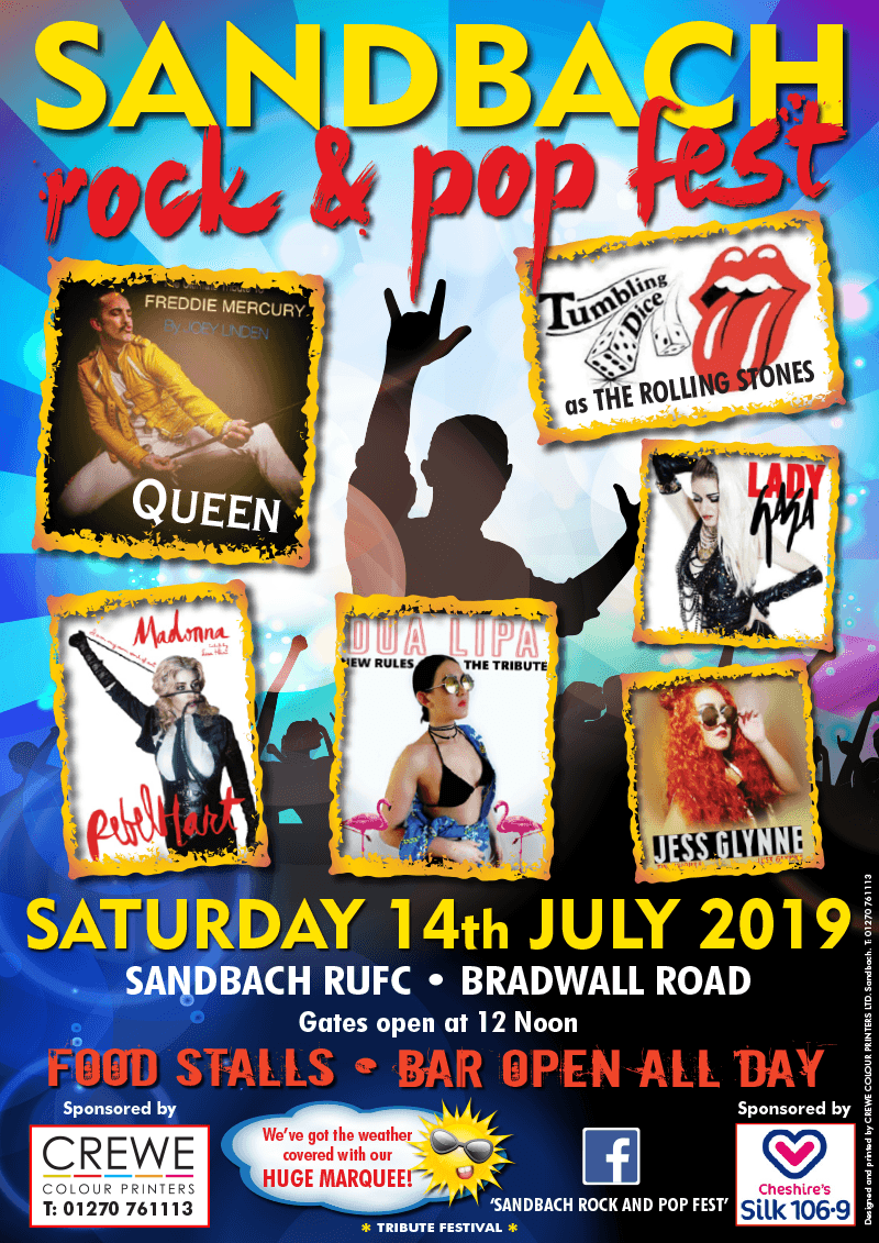 Sandbach rock and pop fest 2019