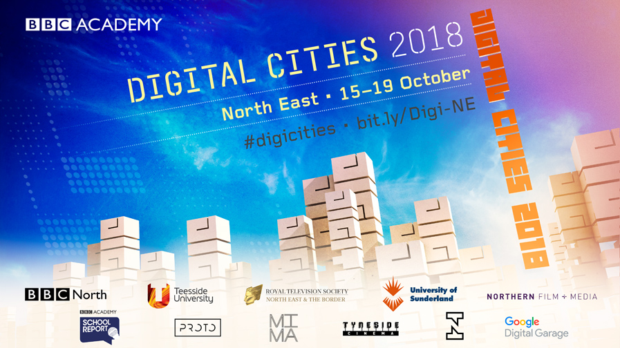 BBC Digital Cities North East poster