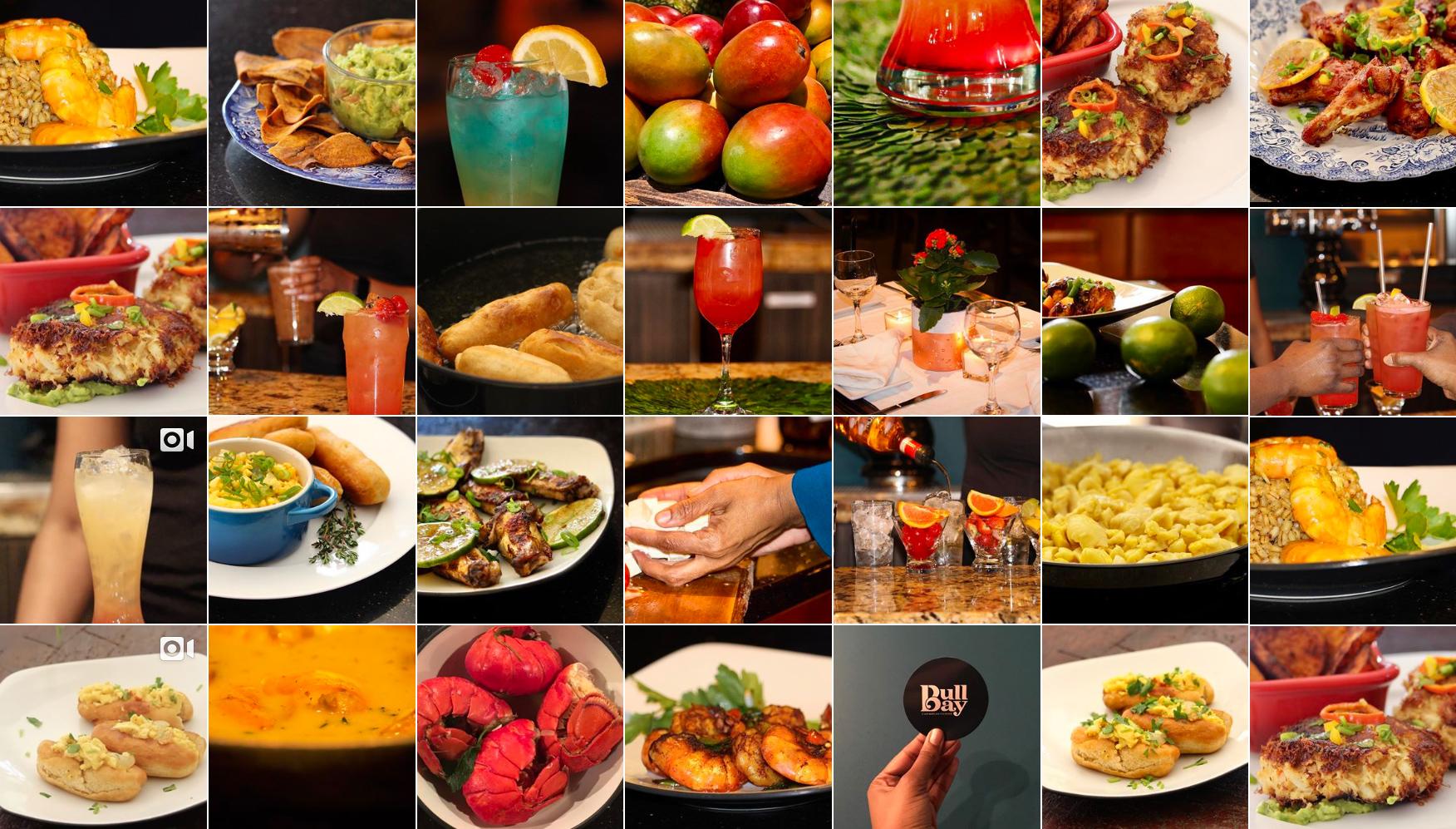 Bull Bay Cuisine Food Grid