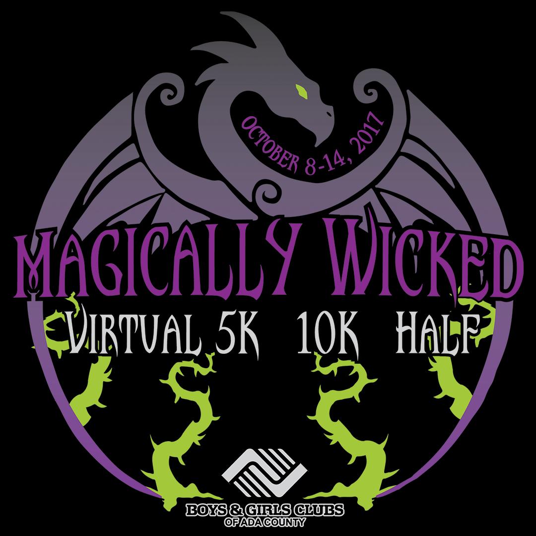 Magically Wicked Virtual Race Shirt Design