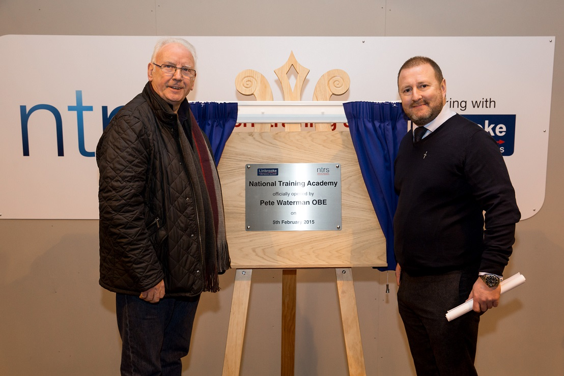 Our training school was officially opened by Pete Waterman OBE