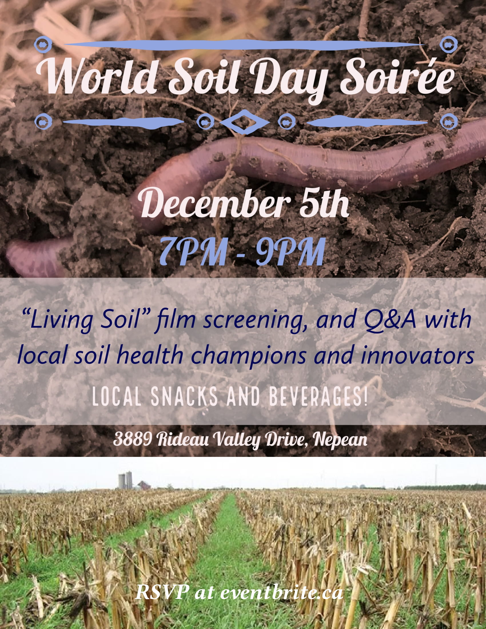 Healthy soil, event description, cover crops