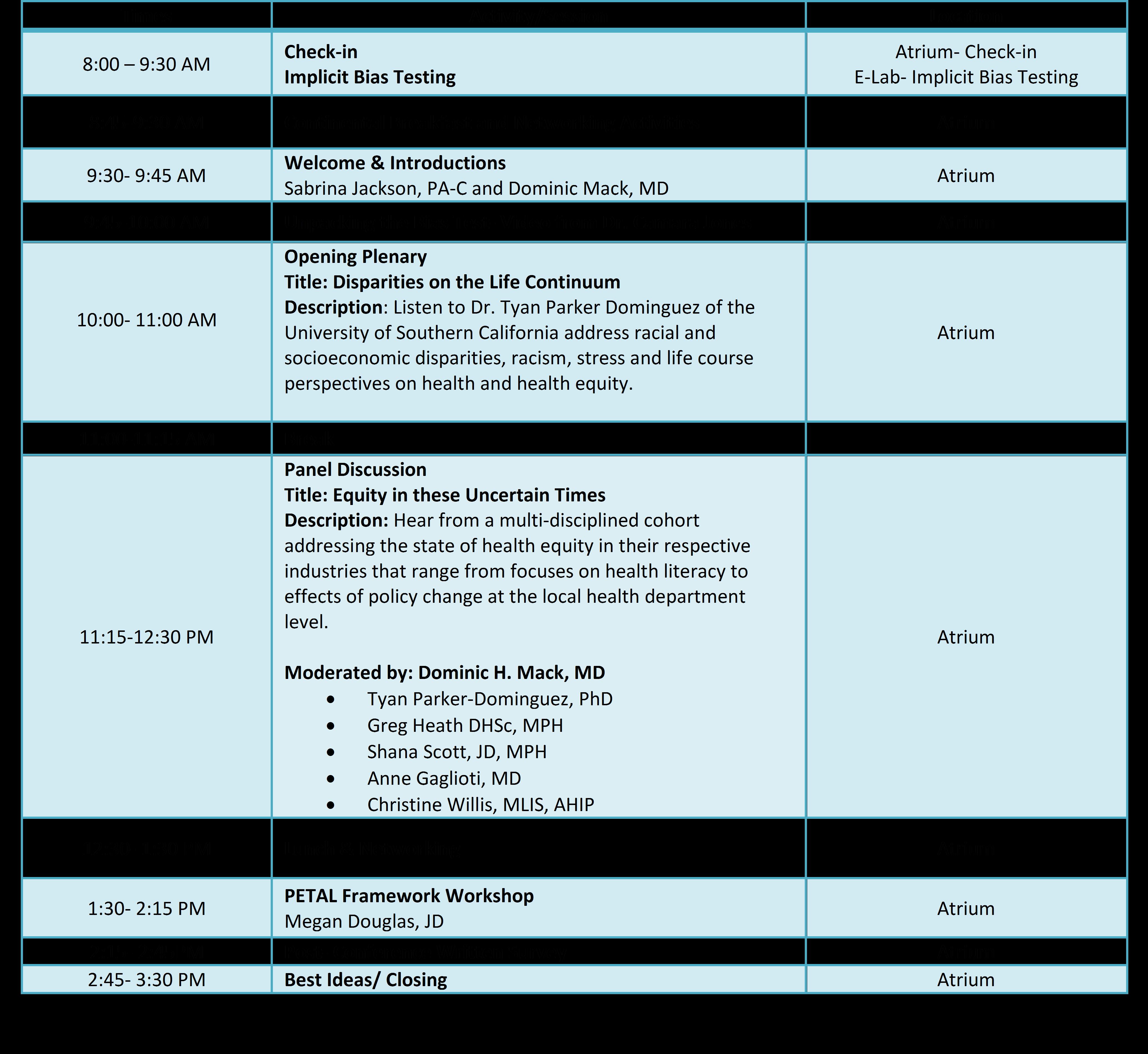 EGAD 2017 Agenda