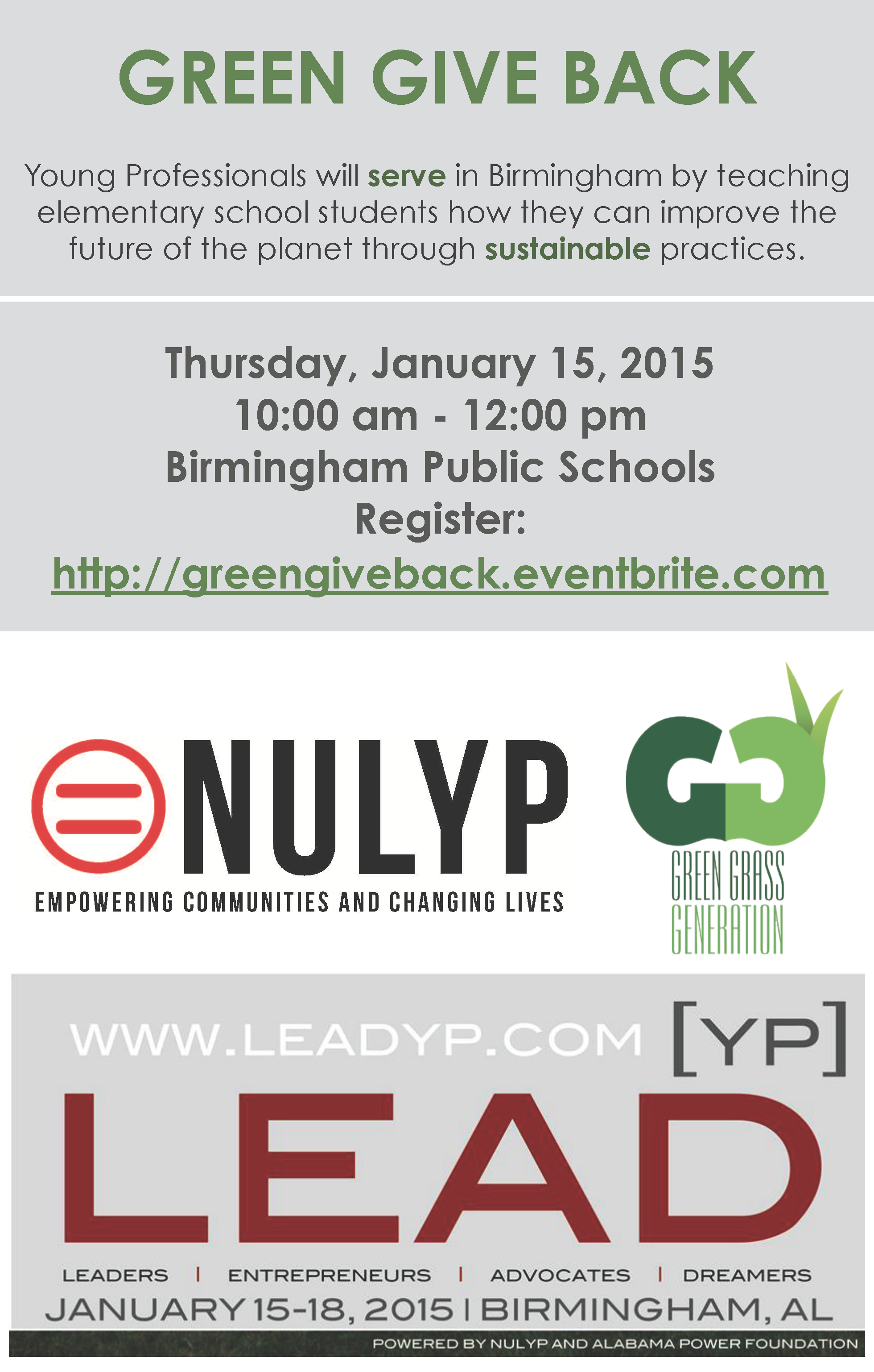 NULYP Green Give Back