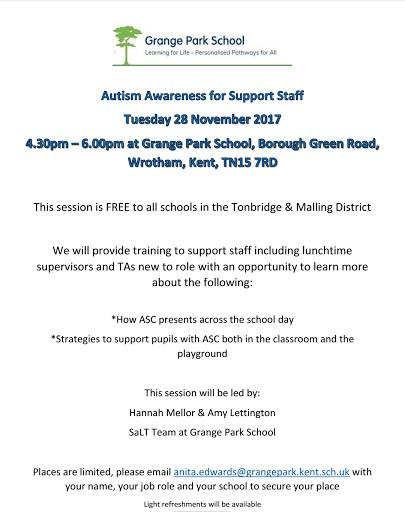 Autism Awareness for Support Staff - Grange Park School