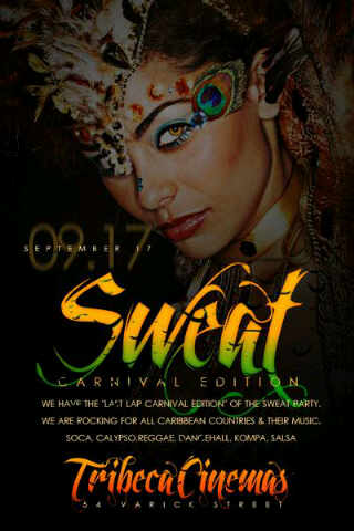 Sweat Party Flyer