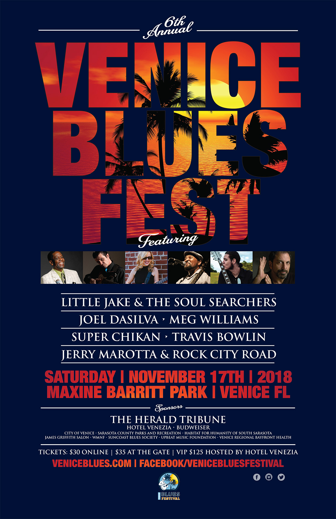 venice blues  festival poster 2018