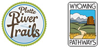 Platte River Trails and Wyoming Pathways logos