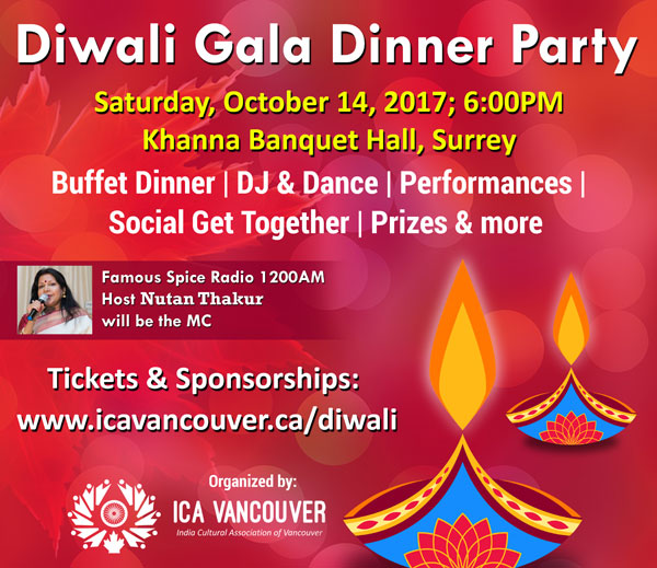 Diwali Festival Celebrations by ICA Vancouver