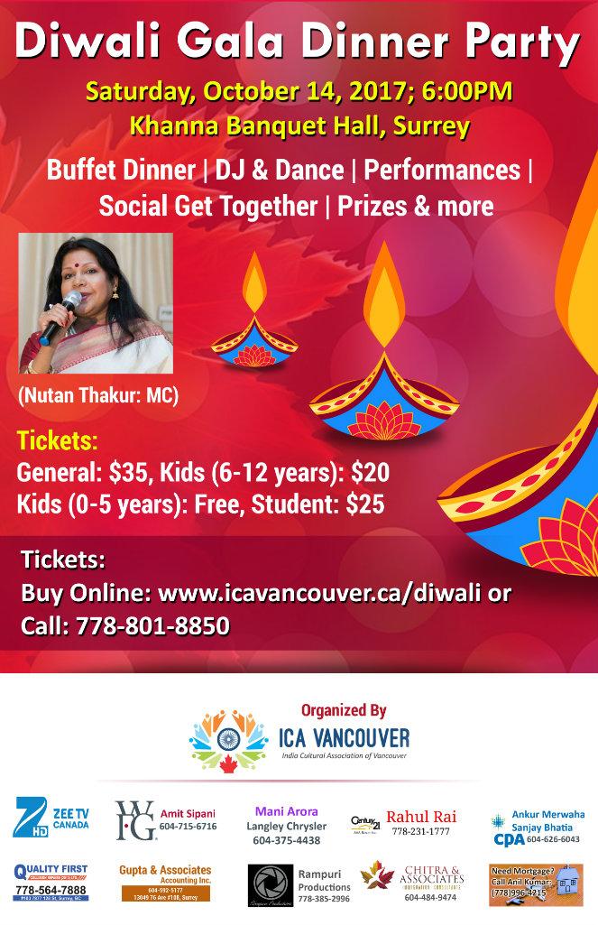 ICA Vancouver Diwali Poster