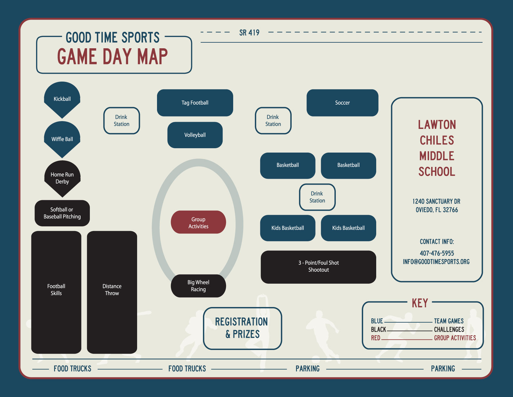 Good Time Sports Game Day Map