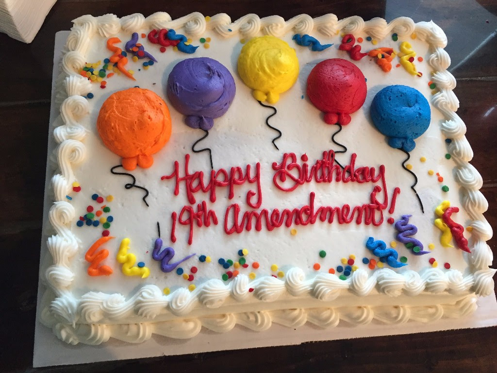 Birthday cake from last year's party