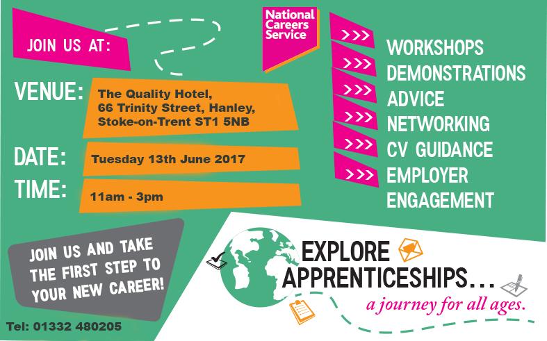 Explore Apprenticeships Stoke Flyer