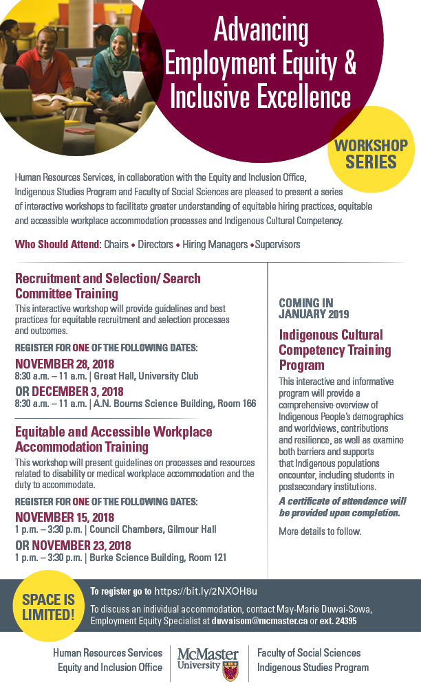 Employment Equity Workshop Flyer