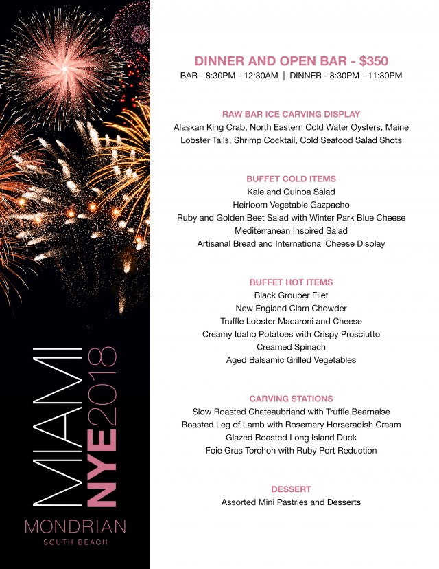 Mondrian Miami NYE Party w/ Premuim Open Bar Tickets, Mon, Dec 31 ...