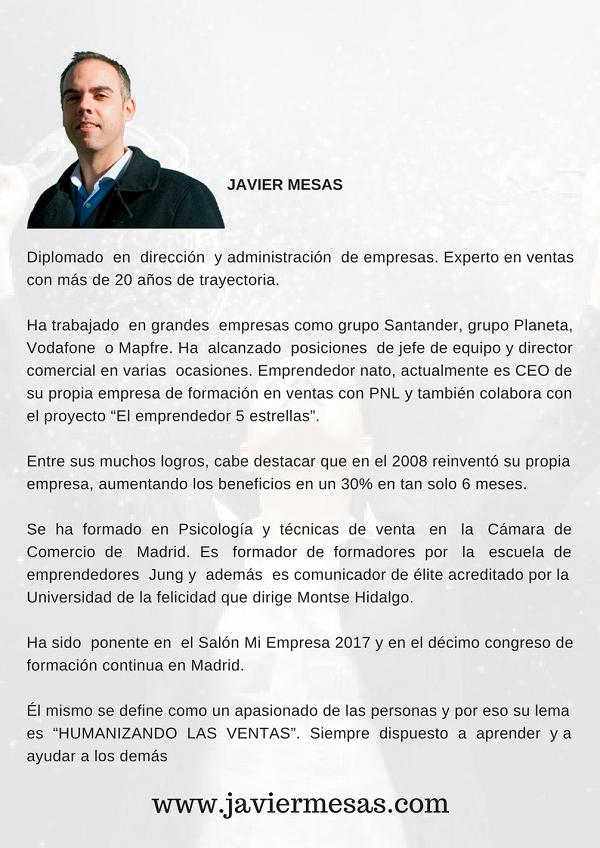 Bio Javier Mesas