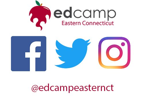 follow @edcampeasternct on social media