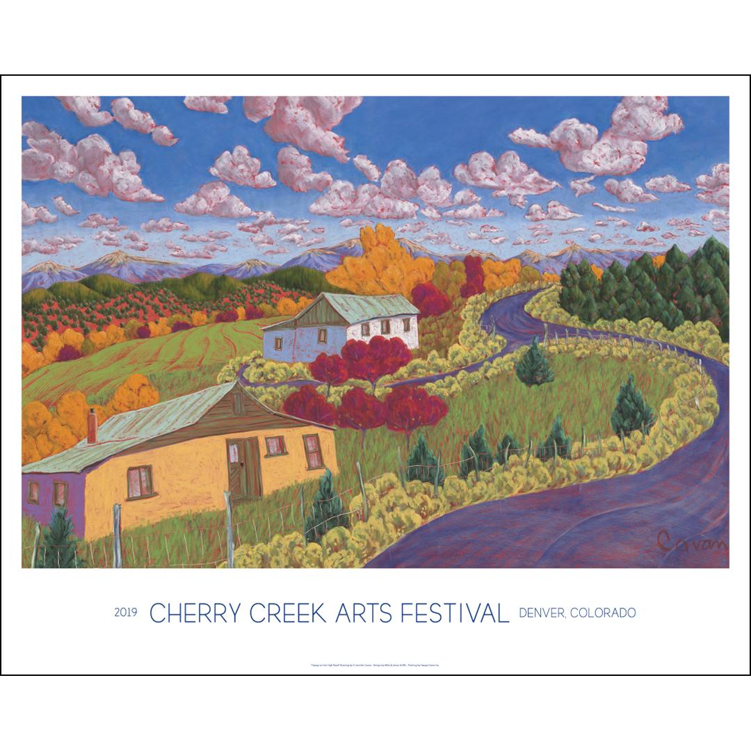 2019 Cherry Creek Arts Festival Commemorative Poster Art Image