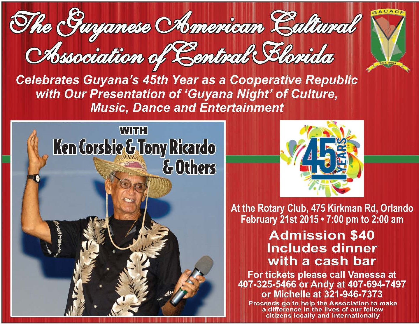 GACACF Cultural Night Celebration