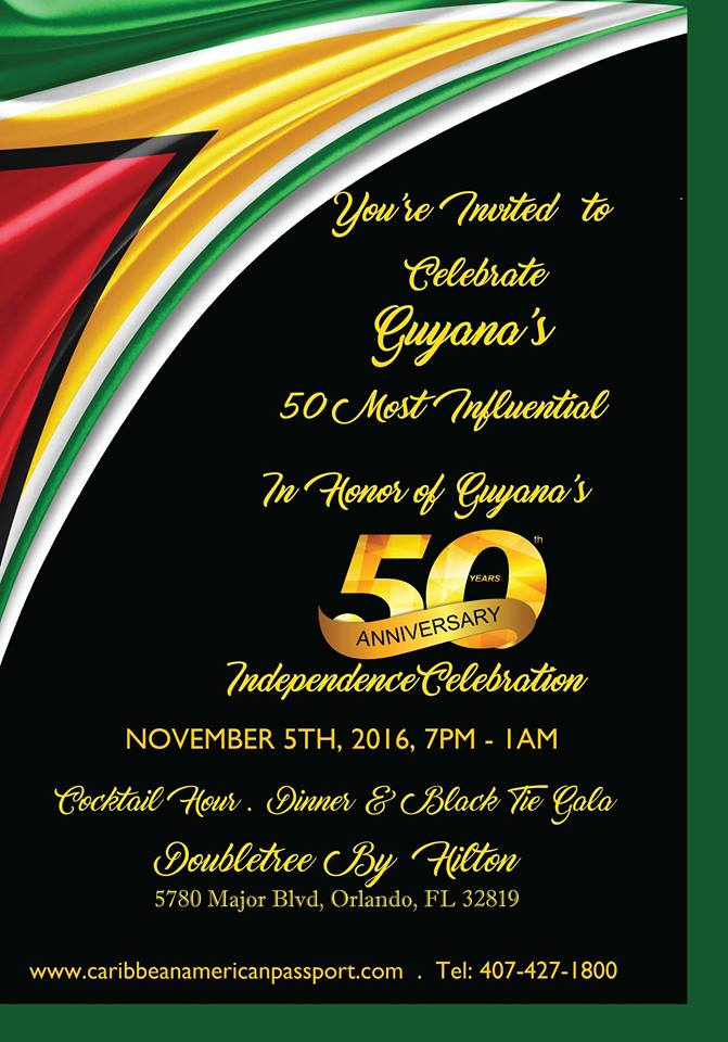 Guyana's 50 Most Influential Guyanese in Florida