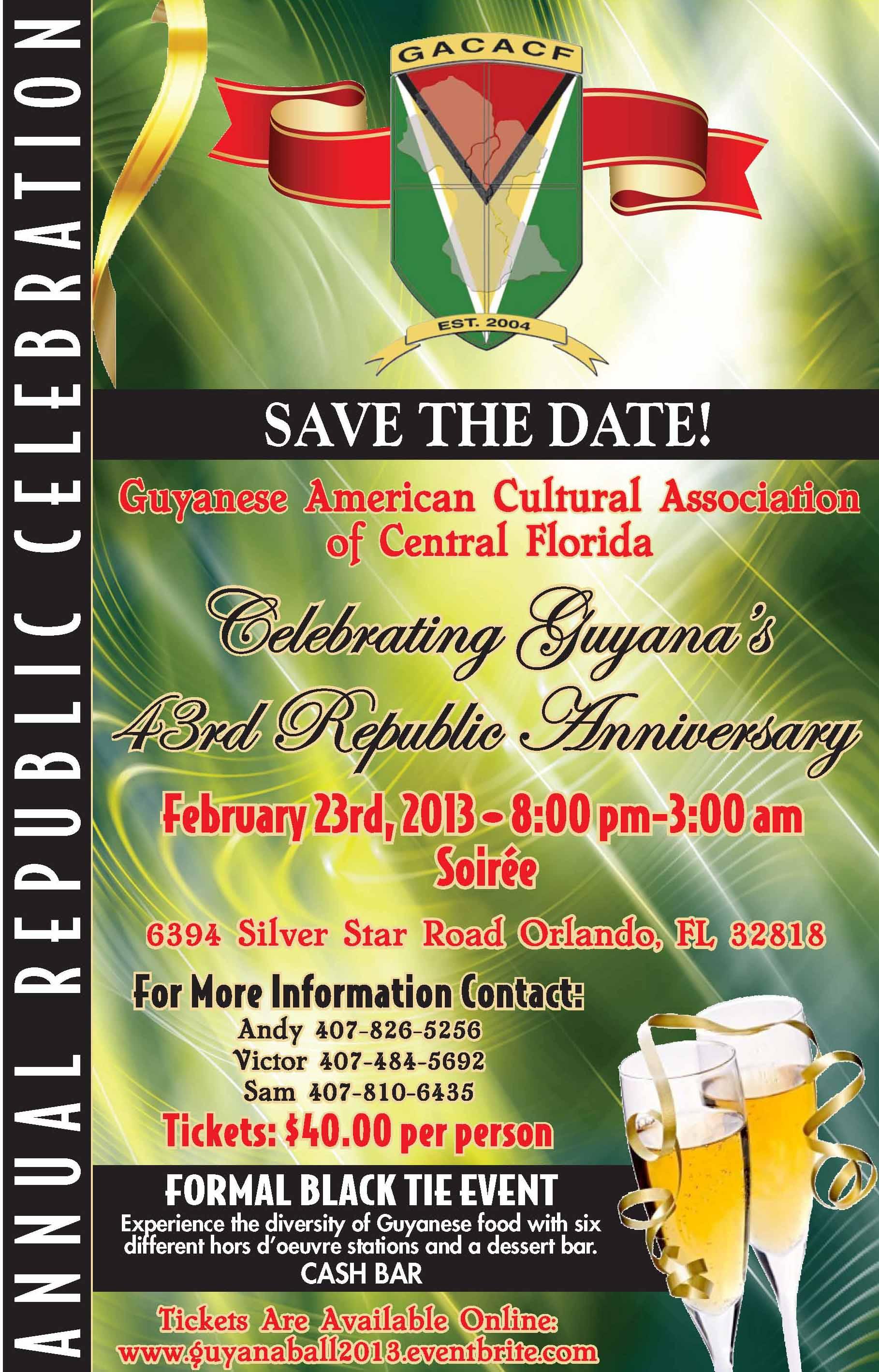 Guyana Republic Celebration Flyer