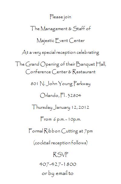 majestic invitation
