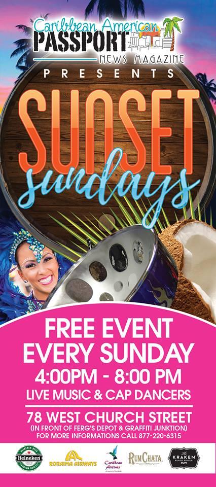 Sunset Sundays Presented by Caribbean American Passport NewsMagazine