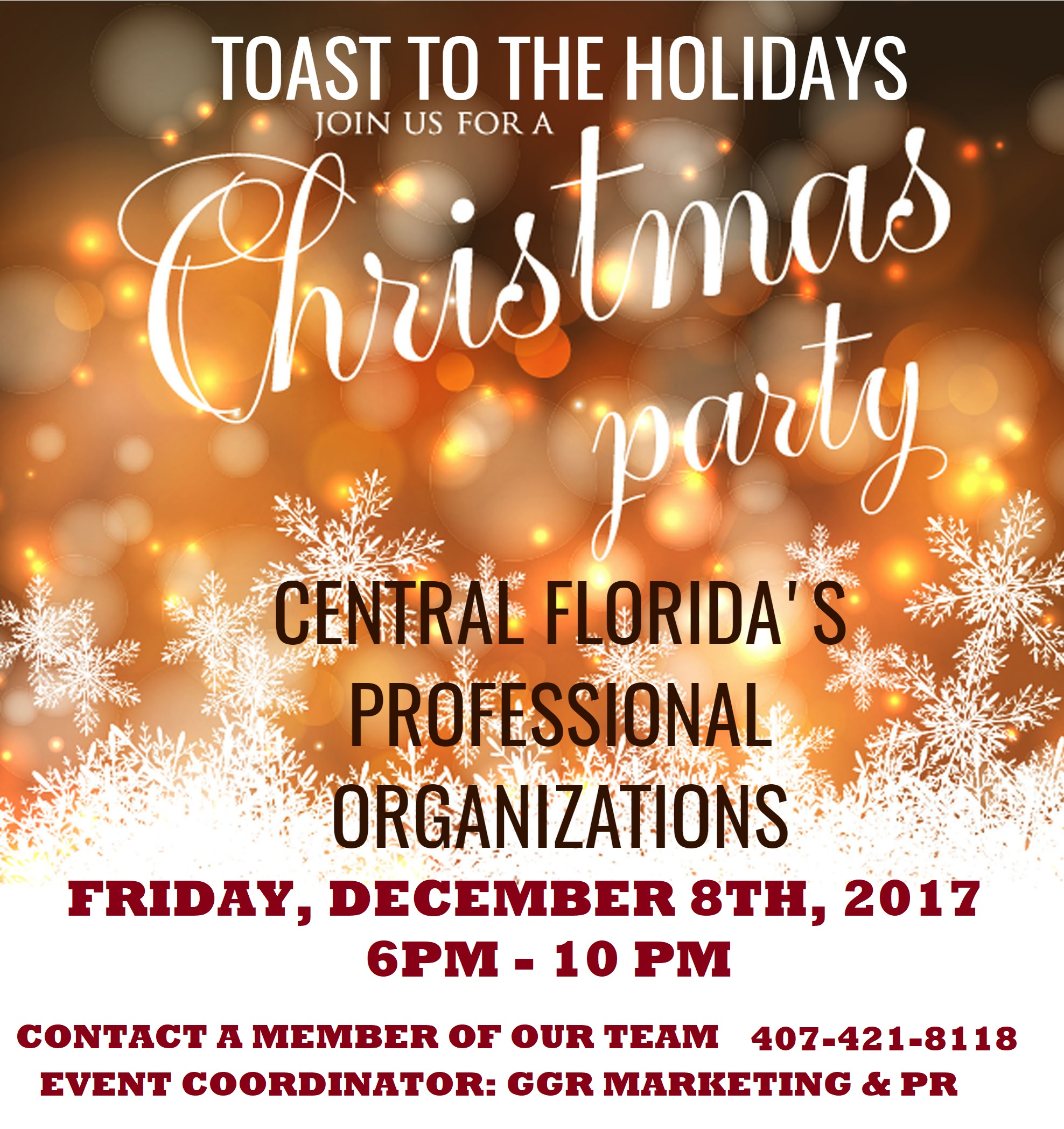 6th Annual Toast to the Holidays Christmas party