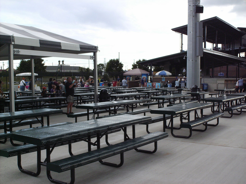 Pavilion seating and picnic area