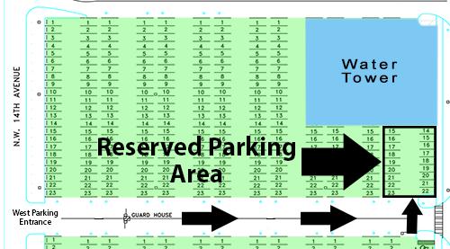 west parking lot map