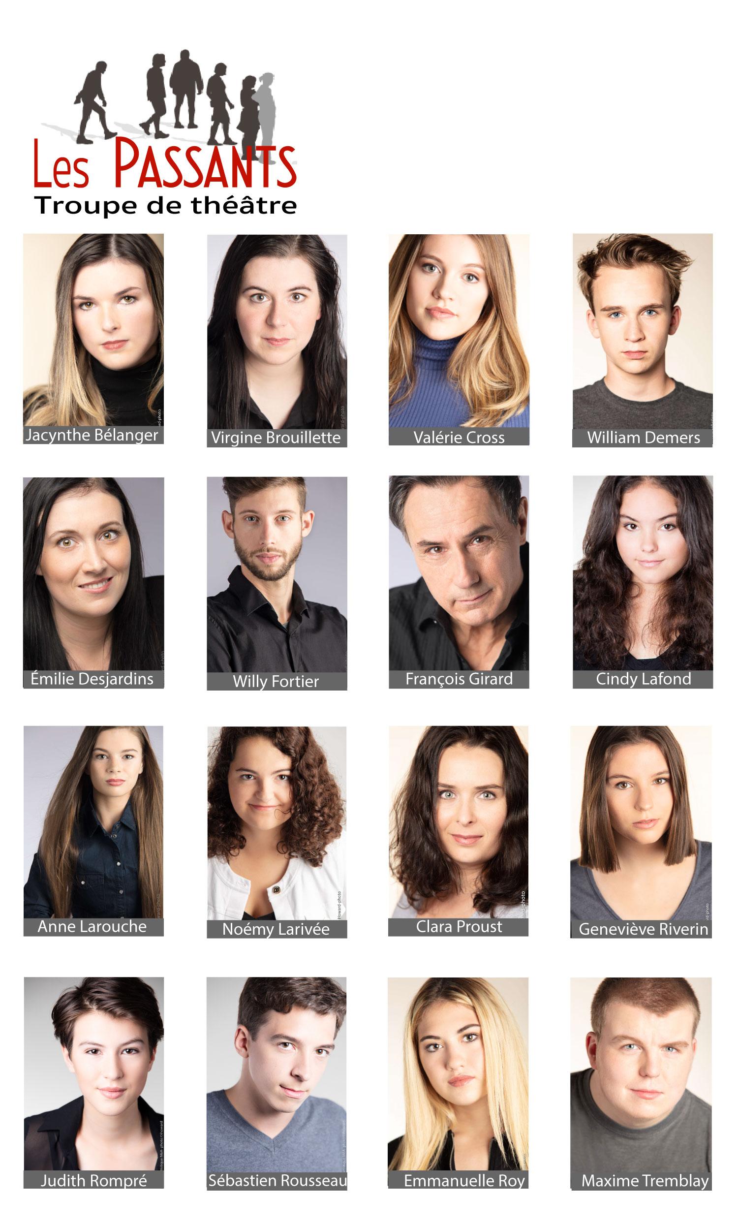Photos de casting troupe Les passants comédiens de l'agence Mode é Arto