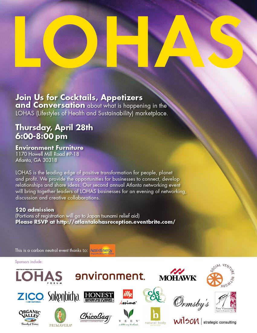 LOHAS Atlanta Reception Invite