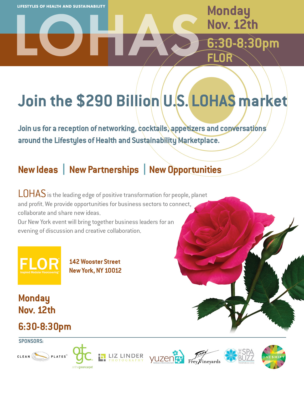 LOHAS New York Networking Reception Invite