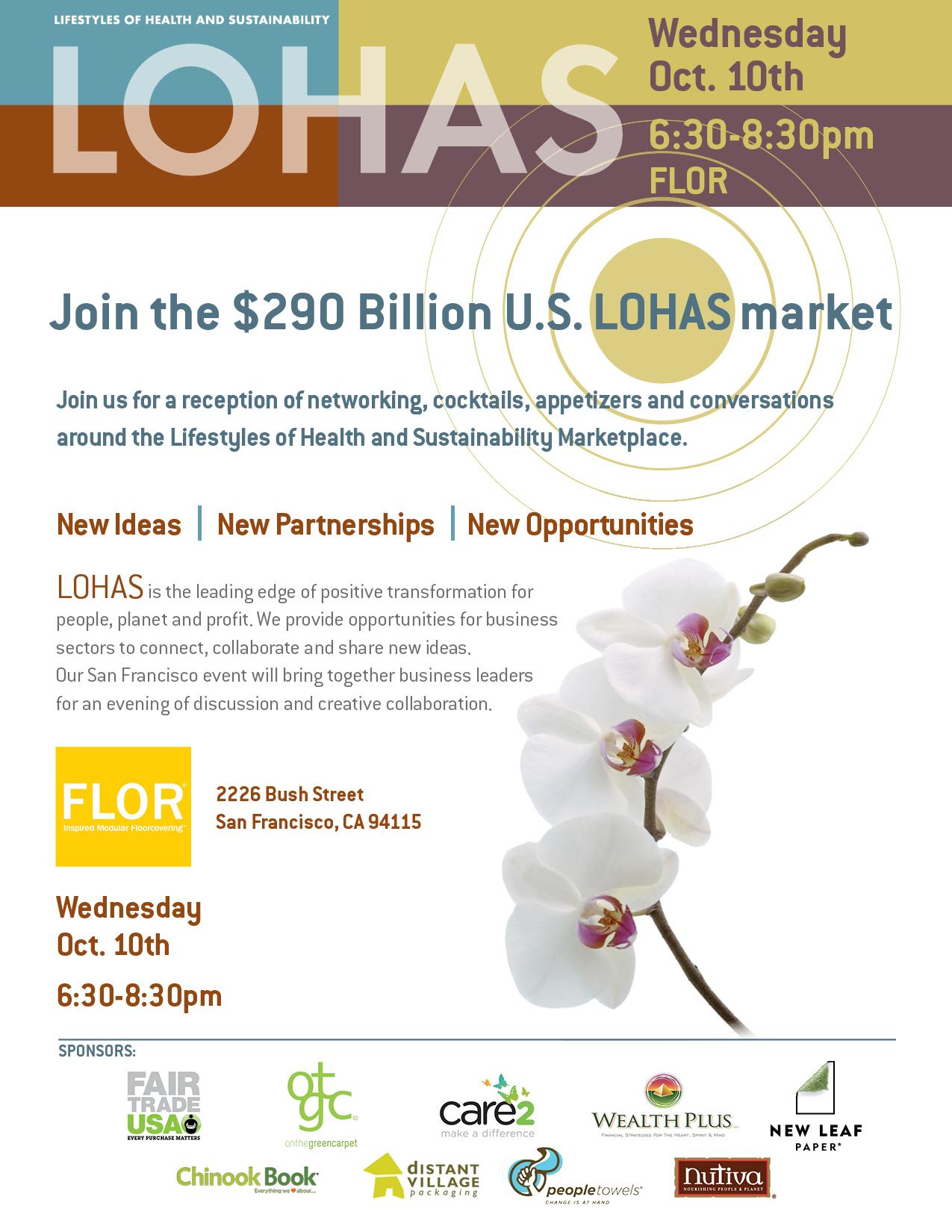 LOHAS San Francisco Networking Reception Invite