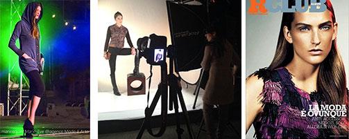 Mannequins de l'agence Mode é arto en défilé et shooting photo