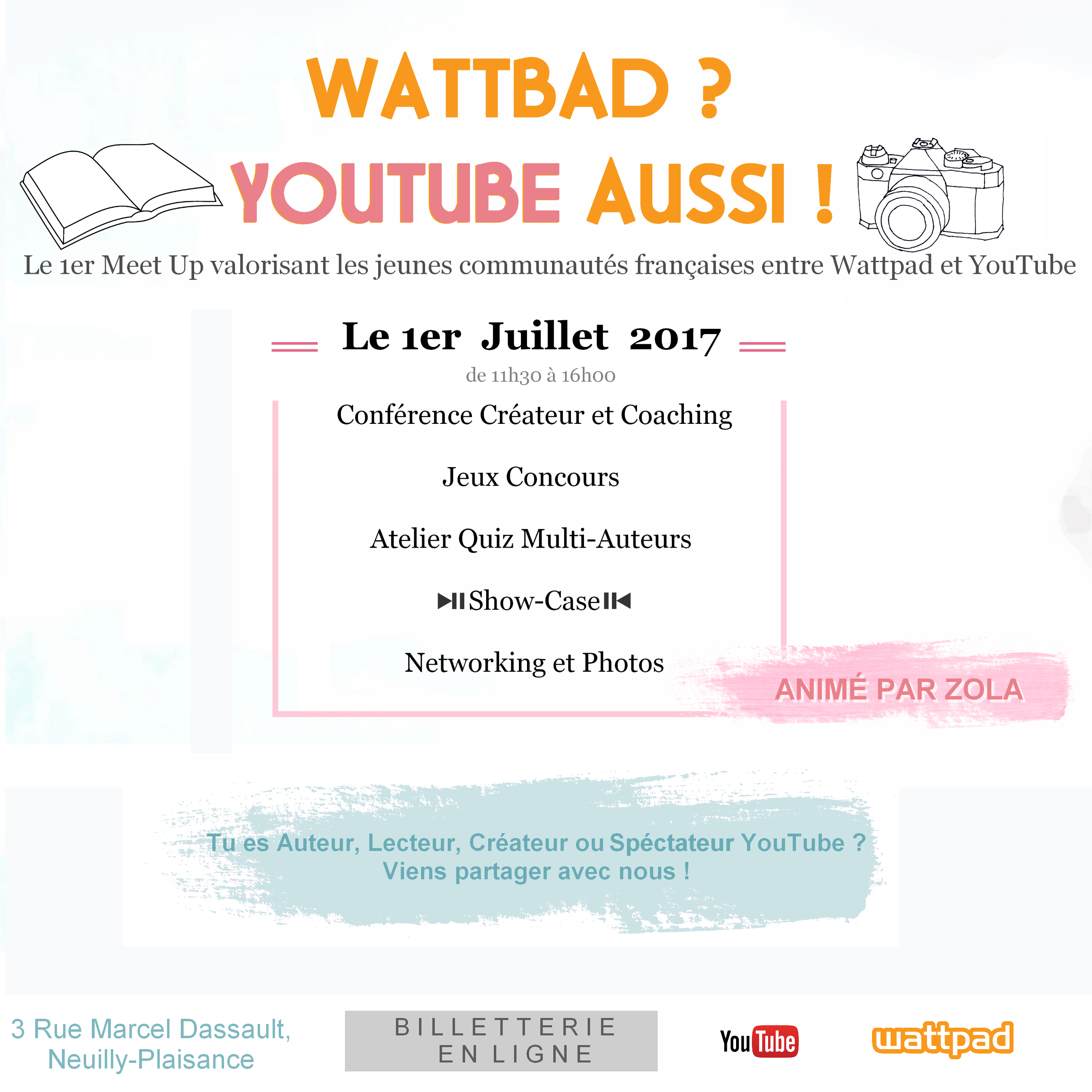 Meet Up Wattpad, Wattbad youtube aussi