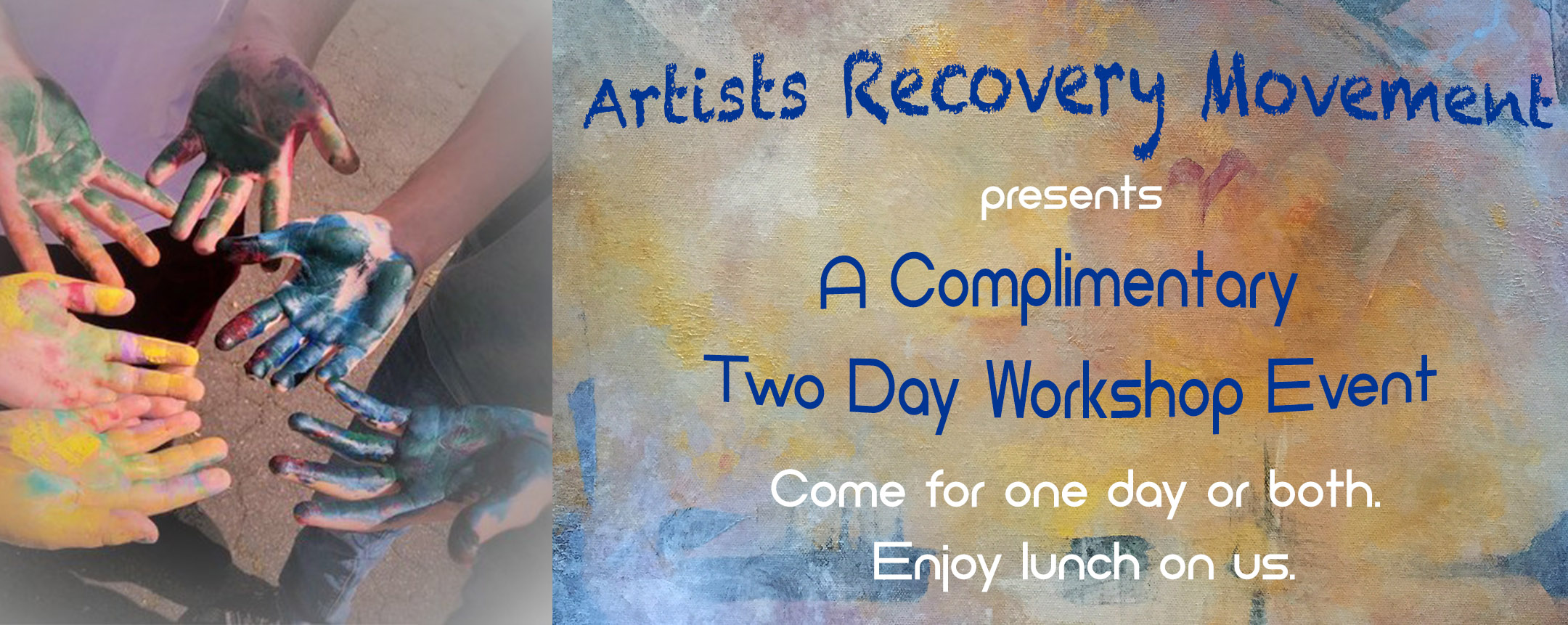 Artists Recovery 2 Day Workshop graphic