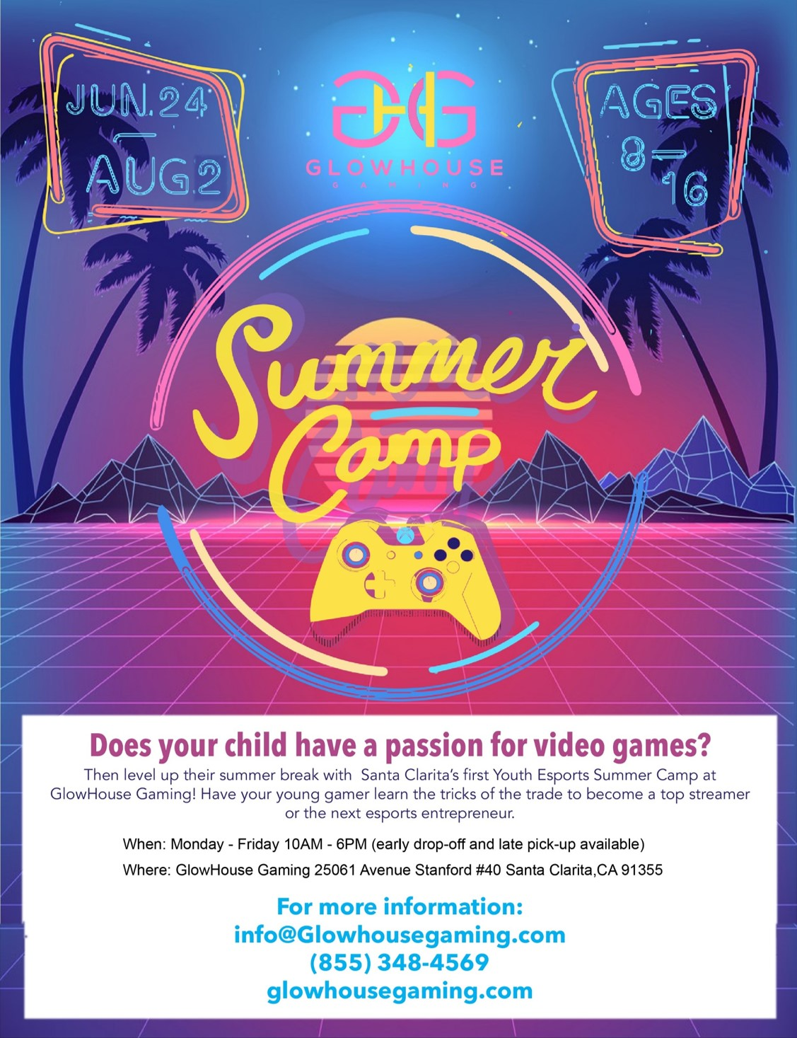 GlowHouse Gaming Summer Camp 2019